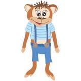 Vector Monkey Illustration Royalty Free Stock Photos