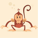 Vector monkey mascot. New year character stock image