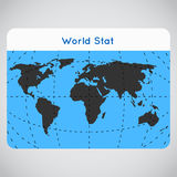 Vector mono blue illustration of Earth made. Royalty Free Stock Image