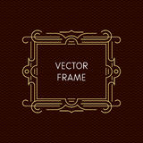 Vector mono line frame with copy space Stock Photography