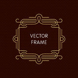 Vector mono line frame with copy space Royalty Free Stock Photography