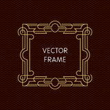 Vector mono line frame with copy space Stock Image