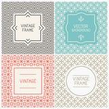 Vector Mono Line Graphic Design Templates Stock Images