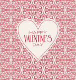 Vector mono line graphic design templates. Happy. Happy valentines day cards with ornaments. Vector  line graphic design templates - decorative backgrounds with Royalty Free Stock Photo