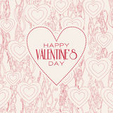 Vector mono line graphic design templates. Happy. Happy valentines day cards with ornaments. Vector  line graphic design templates - decorative backgrounds with Stock Photography