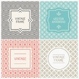 Vector mono line graphic design templates Stock Images