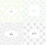 Vector mono line graphic design templates - labels and badges Stock Photo