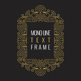 Vector Mono Line style Geometric Frame Template for Text Stock Image