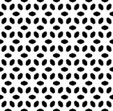 Vector monochrome безшовная картина, абстрактная геометрическая текстура флористического орнамента Стоковое Изображение RF