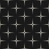 Vector monochrome безшовная картина, текстура с поставленными точки формами иллюстрация вектора