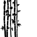 Vector monochrome bamboo background Stock Photography