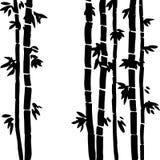 Vector monochrome bamboo background Stock Photo