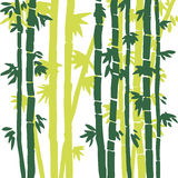 Vector monochrome bamboo background Royalty Free Stock Images