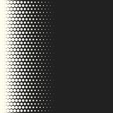 Vector monochrome circles halftone background. Halftone dots. Vector black and white circles halftone background. Geometric vintage monochrome fade wallpaper Stock Images