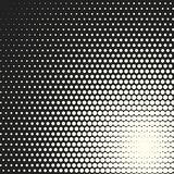 Vector monochrome circles halftone background. Halftone dots. Vector black and white circles halftone background. Geometric vintage monochrome fade wallpaper Vector Illustration