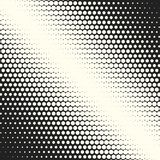 Vector monochrome circles halftone background. Halftone dots. Vector black and white circles halftone background. Geometric vintage monochrome fade wallpaper Stock Photography