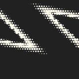 Vector monochrome circles halftone background. Halftone dots. Vector black and white circles halftone background. Geometric vintage monochrome fade wallpaper stock illustration