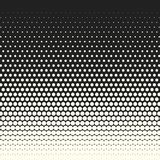 Vector monochrome circles halftone background. Halftone dots. Vector black and white circles halftone background. Geometric vintage monochrome fade wallpaper royalty free illustration
