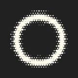 Vector monochrome circles halftone background. Halftone dots. Vector black and white circles halftone background. Geometric vintage monochrome fade wallpaper vector illustration