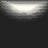Vector monochrome circles halftone background. Halftone dots. Vector black and white circles halftone background. Geometric vintage monochrome fade wallpaper Stock Image