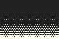 Vector monochrome circles halftone background. Halftone dots. Vector black and white circles halftone background. Geometric vintage monochrome fade wallpaper Stock Photo