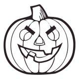 Vector Monochrome Decorative pumpkin. Thanksgiving Symbol. Halloween Decorations Isolated eps 10. Vector Monochrome Decorative pumpkin. Thanksgiving Symbol royalty free illustration