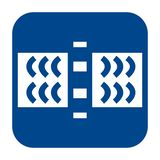 Vector flat design icon of guided wave testing. royalty free illustration