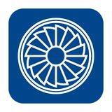 Vector flat design icon of propeller. royalty free illustration