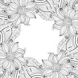 Vector Monochrome Floral Background Stock Photos