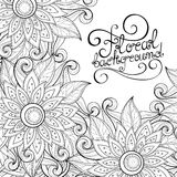 Vector Monochrome Floral Background Stock Photos