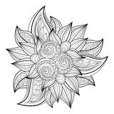 Vector Monochrome Floral Background Royalty Free Stock Image