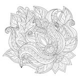 Vector Monochrome Floral Background Royalty Free Stock Photos
