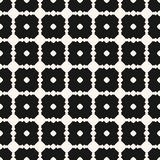 Vector monochrome geometric seamless pattern with circles, dots, carved lattice. Vector geometric seamless pattern with circles, dots, carved lattice, square vector illustration