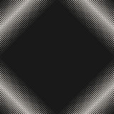 Halftone pattern, texture with dots in square form, diagonal frame Stock Photo
