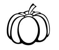 Vector monochrome illustration of pumpkin logo. Stock Photography