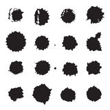 Vector monochrome ink dots, blots, smudges and drops set.  Stock Photography