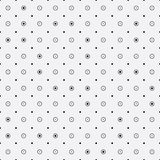 Vector monochrome minimalistic pattern. Repeating geometric tiles rounds, dots Royalty Free Stock Photography