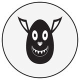 Vector monochrome monster character Stock Photo