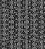 Vector monochrome psychodelic seamless pattern Royalty Free Stock Photos