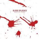Vector realistic blood splatters set Royalty Free Stock Photo