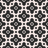 Vector monochrome seamless pattern. Abstract endless geometric  Stock Photography