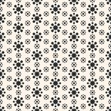 Abstract floral geometric seamless pattern. Simple flower shapes Royalty Free Stock Image