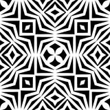 Vector monochrome seamless pattern, abstract geometric floral ornament texture. Vector monochrome seamless pattern, simple minimalist background, abstract Royalty Free Stock Photos