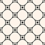 Vector monochrome seamless pattern, circular lattice, mesh, thin Stock Images