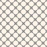 Vector monochrome seamless pattern, circular lattice, mesh, thin Stock Images