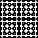 Vector monochrome seamless pattern, flat floral texture Royalty Free Stock Images