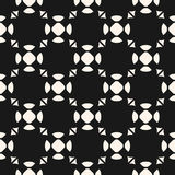 Vector monochrome seamless pattern. Funky abstract texture Stock Photo
