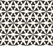 Vector monochrome seamless pattern, geometric triangular shapes Royalty Free Stock Photos