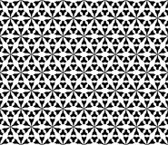 Vector monochrome seamless pattern, geometric triangular shapes Stock Photo