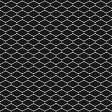 Vector monochrome seamless pattern of mesh, lattice, grid, fishnet, tissue, lace, net. Vector seamless pattern, simple black and white geometric texture Stock Photography